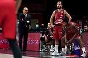 Messina Ettore Rodriguez Sergio Leday Zach <br /> AX Armani Exchange Milano De Longhi Treviso<br /> Legabasket Serie A UnipolSAI 2020/2021<br /> Milano, 04/10/2020<br /> Foto A.Giberti / Ciamillo-Castoria