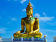 02 JUNE 2017 - SAMUT SAKHON, THAILAND: A large statue of the Buddha at Wat Suwannaram in Samut Sakhon.       PHOTO BY JACK KURTZ