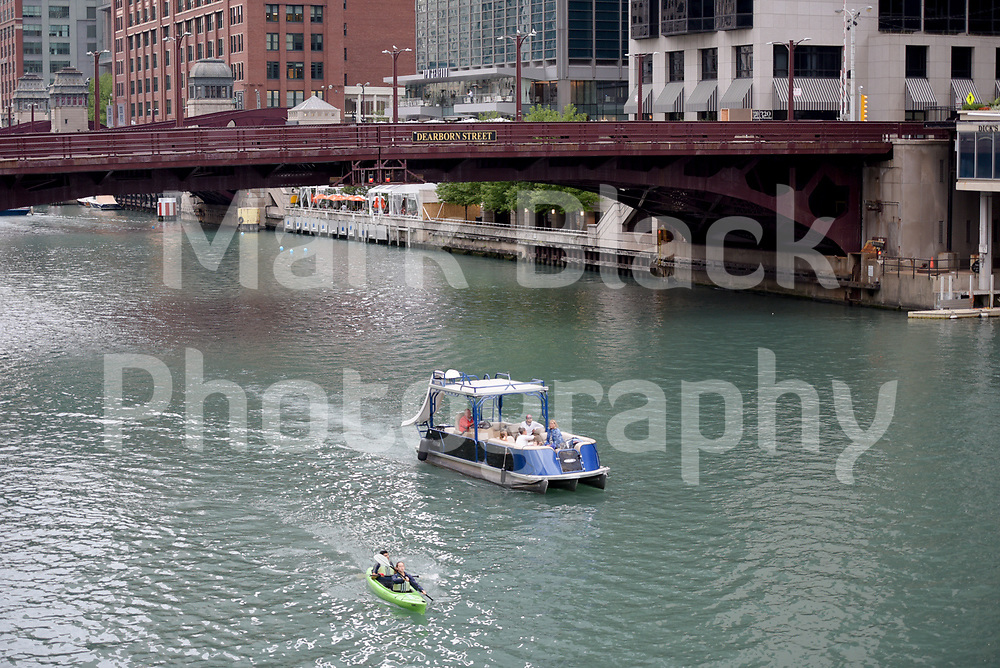 The Chicago River in downtown Chicago, Illinois. Photo by Mark Black