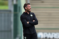 Forest Green Rovers manager Rob Edwards during the Pre-Season Friendly match between Yeovil Town and Forest Green Rovers at Huish Park, Yeovil, England on 31 July 2021.