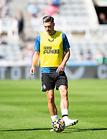 Football - 2021 / 2022 Premier League - Newcastle United vs Southampton - St Jame's Park - Saturday 28th August 2021<br /> <br /> Fabian Schar of Newcastle United is seen during the warm up<br /> <br /> Credit: COLORSPORT/Bruce White