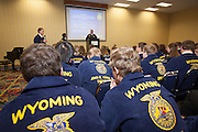 Wyoming FFA Convention in Cheyenne, Wyoming on April 9, 2013.