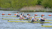 Reading. United Kingdom. GBR M2- bow, George NASH and Andy TRIGGS HODGE  head the field in their afternoon, men's pair, semi final.   Redgrave and Pinsent Rowing Lake. Caversham.<br /> <br /> 15:04:18  Saturday  19/04/2014<br /> <br />  [Mandatory Credit: Peter Spurrier/Intersport<br /> Images]