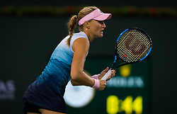 March 9, 2019 - Indian Wells, USA - Kristina Mladenovic of France in action during her second-round match at the 2019 BNP Paribas Open WTA Premier Mandatory tennis tournament (Credit Image: © AFP7 via ZUMA Wire)