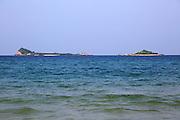 Pigeon Island  seen from Nilavelli beach, Trincomalee, Sri Lanka, Asia