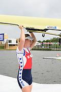 Poznan,  POLAND,  Saturday, 18/06/2016, NED1 W1X Lisa scheenaard, carting her boat, FISA World Cup III, Malta Lake.[Mandatory Credit; Peter SPURRIER/Intersport-images]
