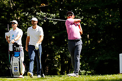 September 2, 2018 - Norton, MA, U.S. - NORTON, MA - SEPTEMBER 02: C.T. Pan of Taiwan drives from the 9th tee during the Third Round of the Dell Technologies Championship on September 2, 2018, at TPC Boston in Norton, Massachusetts. (Photo by Fred Kfoury III/Icon Sportswire) (Credit Image: © Fred Kfoury Iii/Icon SMI via ZUMA Press)