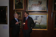 Viscount Churchill and William Drummond. 'The Road to Abtsraction' an exhibition of paintings by Rosita Marlborough. the Fleming Collection. 13 Berkeley St. London W1. 31 March 2005. ONE TIME USE ONLY - DO NOT ARCHIVE  © Copyright Photograph by Dafydd Jones 66 Stockwell Park Rd. London SW9 0DA Tel 020 7733 0108 www.dafjones.com