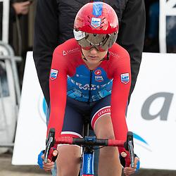 11-03-2021: Wielrennen: Healthy Ageing Tour: Lauwersoog. <br />Lea Linn Teutenberg