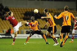 Luke Freeman of Bristol City controls the ball - Mandatory byline: Dougie Allward/JMP - 08/03/2016 - FOOTBALL - Molineux Stadium - Wolverhampton, England - Wolves v Bristol City - Sky Bet Championship