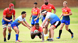 SOUTH AFRICA - Cape Town - 20 October 2020- Stormers player Sazi Sandi tries to bulldoze Herschell Jantjies and Frans Malherbe during a training session at the Bellville High Perfomance centre.The Stormers will be travelling to Nelspruit to play against Phakisa Pumas on friday  .Photograph; Phando Jikelo/African News Agency(ANA)