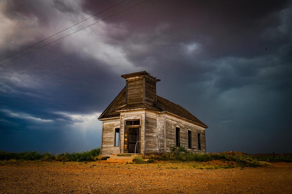 Abandoned Taiban Presbyterian Church, Built 1908, Taiban, New Mexico