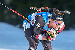 Leitner Felix of Austria competes during the IBU World Championships Biathlon 4x7,5km Relay Men competition on February 20, 2021 in Pokljuka, Slovenia. Photo by Vid Ponikvar / Sportida