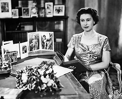 File photo dated 25/12/17 of Queen Elizabeth II in the Long Library at Sandringham shortly after making her Christmas Day broadcast to the nation. The monarch made her first Christmas broadcast live on the radio in 1952 Ð the year of her accession Ð and the annual message was first shown on TV in 1957.