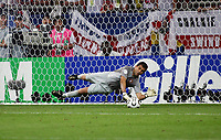 Photo: Chris Ratcliffe.<br /> England v Portugal. Quarter Finals, FIFA World Cup 2006. 01/07/2006.<br /> Ricardo of Portugal saves Frank Lampard's penalty.