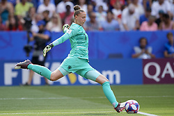 July 7, 2019 - Lyon, France - Sari Van Veenendaal (Arsenal WFC) of Netherlands does passed during the 2019 FIFA Women's World Cup France Final match between The United State of America and The Netherlands at Stade de Lyon on July 7, 2019 in Lyon, France. (Credit Image: © Jose Breton/NurPhoto via ZUMA Press)