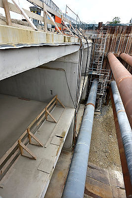 Nederland, Maastricht, 6-8-2013Aanleg van de tunnels in de A2 door een deel van de stad.Foto: Flip Franssen/Hollandse Hoogte