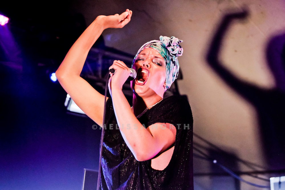 Aerea Negrot of Hercules & Love Affair performs live on stage at Standon Calling, Herts, UK on 13 August 2011. JPH/B2779
