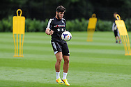 Alejandro Pozuelo of Swansea city in action. Swansea city FC team training in Llandore, Swansea,South Wales on Thursday 15th August 2013. The team are preparing for the opening weekend of the Barclays premier league when they face Man Utd. pic by Andrew Orchard,  Andrew Orchard sports photography,