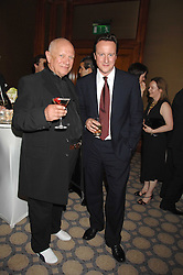 Left to right, Actor STEVEN BERKOFF and DAVID CAMERON MP at a party to celebrate the 180th Anniversary of The Spectator magazine, held at the Hyatt Regency London - The Churchill, 30 Portman Square, London on 7th May 2008.<br /><br />NON EXCLUSIVE - WORLD RIGHTS