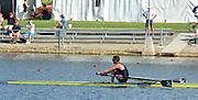 Sydney, Australia.  NZL LM1X Gold medalist Duncan GRANT,  Lightweight  Men's Single Scull, FISA World Cup I. and  Sydney International Rowing Regatta. Sydney International Rowing Centre, Penrith Lakes, NSW.   Saturday   23/03/2013 [Mandatory Credit. Peter Spurrier/Intersport Images]..
