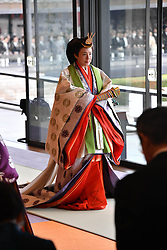 October 22, 2019, Tokyo, Japan: 22-10-2019 TOKYO Empress Masako attend the enthronement ceremony where emperor officially proclaims his ascension to the Chrysanthemum Throne at the Imperial Palace in Tokyo..../pool (Credit Image: © face to face via ZUMA Press)