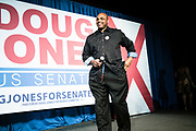 """BIRMINGHAM, AL – DECEMBER 11, 2017: On the eve of the Special General Election for Senate, basketball star Charles Barkley speaks to the crowd and endorses democratic candidate Doug Jones in a """"get out the vote"""" rally.  CREDIT: Bob Miller for The New York Times"""