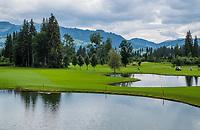 WESTENDORF -  Tirol   Oostenrijk,  -  hole 18 en links hole 9. . Golfanlage Kitzbuheler Alpen Westendorf.    COPYRIGHT KOEN SUYK