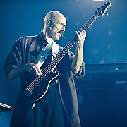 FAIRFAX, VA - October 14th, 2012 - Tony Levin performs at the Patriot Center in Fairfax, VA as part of Peter Gabriel's Back To Front Tour, celebrating the 25th anniversary of his landmark album, So. (Photo by Kyle Gustafson/For The Washington Post)