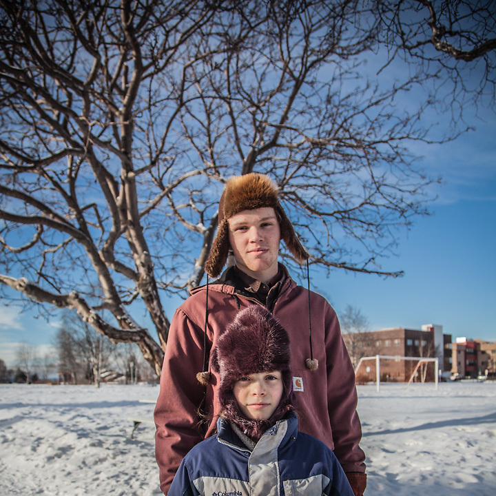 """""""We moved from Soldotna to Anchorage about two years ago.  We are home schooled and we buy our food in bulk.""""  -Dyson (16) and Lucy (10) Dammeyer at Delaney Park Strip, Anchorage."""