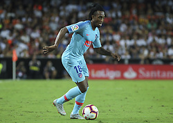 August 20, 2018 - Gelson of Atletico de Madrid in action during the spanish league, La Liga, football match between ValenciaCF and Atletico de Madrid on August 20, 2018 at Mestalla stadium in Valencia, Spain. (Credit Image: © AFP7 via ZUMA Wire)