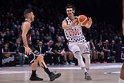 Michele Ruzzier<br /> Segafredo Virtus Bologna - Kontatto Fortitudo Bologna<br /> Campionato Basket LNP 2016/2017<br /> Bologna 06/01/2017<br /> Foto Ciamillo-Castoria