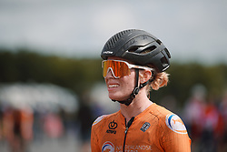 Demi Vollering (NED) after the 2020 UEC Road European Championships - Elite Women Road Race, a 109.2 km road race in Plouay, France on August 27, 2020. Photo by Sean Robinson/velofocus.com