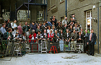 CROWDS OF PRESS SEEN OUTSIDE THE ENGLISH NATIONAL BALLET HQ, LONDON ON THE DAY OF THE PRINCESS OF WALES DIVORCE DECREE NISI 1996.SHE WAS DUE TO VISIT THE HQ. PHOTO BY JAYNE FINCHER.28/8/1996
