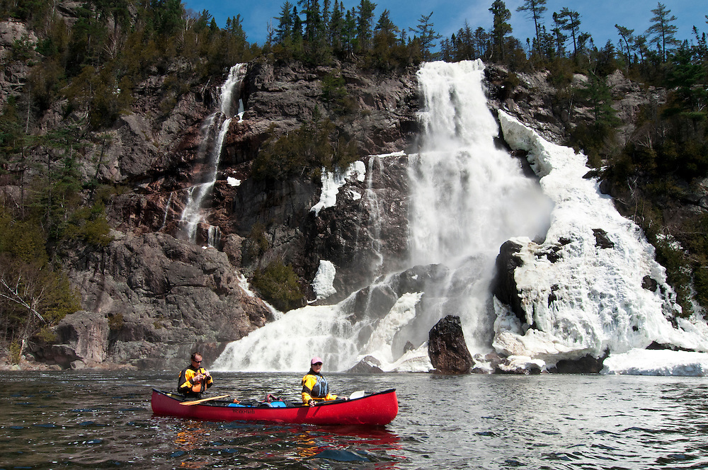 Bridal Veil Falls on the Agawa River of Ontario Canada.