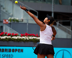 May 8, 2019 - Madrid, MADRID, SPAIN - Naomi Osaka of Japan in action during her third-round match at the 2019 Mutua Madrid Open WTA Premier Mandatory tennis tournament (Credit Image: © AFP7 via ZUMA Wire)