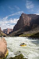 Rafting through Lava Falls in the Grand Canyon National Park, AZ