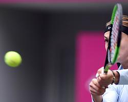 Oct. 14, 2017 - Tianjin, China - ARYNA SABALENKA of Belarus returns the ball during the women's singles semifinal match against S. Errani of Italy at the 2017 WTA Tianjin Open tennis tournament. Sabalenka won 2-0.  hcs) (Credit Image: © Yue Yuewei/Xinhua via ZUMA Wire)