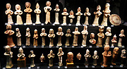 Figurines of females from the ancient Phoenecian city of larnaca (Cyprus). Cyprus had Phoenician settlements by the 9th century BC. Citium, known to the Greeks as Kition (biblical Kittim), in the southeast corner of the island, became the principal colony of the Phoenicians in Cyprus. 900-850 BC