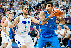 Kristofer Acox of Iceland during basketball match between National Teams of Finland and Iceland at Day 7 of the FIBA EuroBasket 2017 at Hartwall Arena in Helsinki, Finland on September 6, 2017. Photo by Vid Ponikvar / Sportida