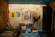 A Chinese calligrapher's shop in Shaxi, Yunnan Province, China.