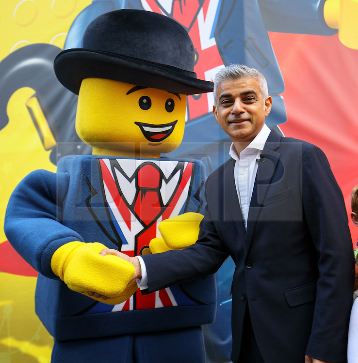 © Licensed to London News Pictures. 17/11/2016. London, UK. Mayor of London SADIQ KHAN opens the world's largest Lego Store opens in Leicester Square, London on 17 November 2016. Photo credit: Tolga Akmen/LNP