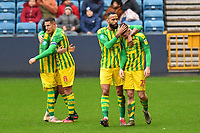 Football - 2019 / 2020 Sky Bet (EFL) Championship - Millwall vs. West Bromwich Albion<br /> <br /> West Bromwich Albion's Kyle Bartley congratulates Dara O'Shea after he scores their 2nd goal, at The Den.<br /> <br /> COLORSPORT/ASHLEY WESTERN