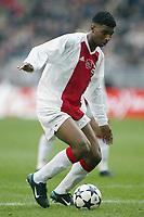 Fotball<br /> Nederland 2003/2004<br /> Foto: Digitalsport<br /> Norway Only<br /> <br /> seizoen 2003 / 2004 , amsterdam 01-02-2004 , ajax - ado den haag 4-0 . ryan babel in zijn debuutwedstrijd
