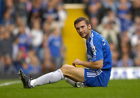 Photo: Daniel Hambury.<br />Chelsea v Portsmouth. The Barclays Premiership. 21/10/2006.<br />Chelsea's Andriy Shevchenko shows dejection shortley before he scored his first Premiership goal for the club.
