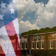 """The town of Lynchburg, Tennessee where the Jack Daniels Distillery is located. The town is a """"dry"""" town and no liquor is sold within the county."""