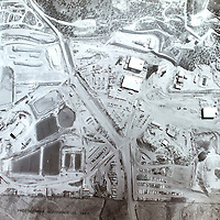 A photograph taken September 10, 1981 shows an ariel view of Mount Taylor Mine while active uranium mining took place.