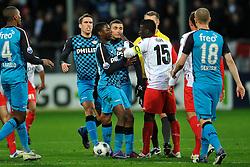 22-01-2012 VOETBAL: FC UTRECHT - PSV: UTRECHT<br /> Utrecht speelt gelijk tegen PSV 1-1 / (L-R) Kevin Strootman, Jetro Willems, Zakaria Labyad, Nana Asare<br /> ©2012-FotoHoogendoorn.nl