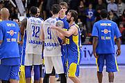 DESCRIZIONE : Eurolega Euroleague 2015/16 Group D Dinamo Banco di Sardegna Sassari - Maccabi Fox Tel Aviv<br /> GIOCATORE : Yogev Ohayon Joe Alexander<br /> CATEGORIA : Fair Play Postgame<br /> SQUADRA : Maccabi Fox Tel Aviv<br /> EVENTO : Eurolega Euroleague 2015/2016<br /> GARA : Dinamo Banco di Sardegna Sassari - Maccabi Fox Tel Aviv<br /> DATA : 03/12/2015<br /> SPORT : Pallacanestro <br /> AUTORE : Agenzia Ciamillo-Castoria/L.Canu