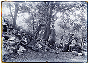 family summer vacation outdoors picnic 1928 Digne, St Pons, France
